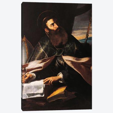 Portrait of St. Augustine of Hippo Canvas Print #BMN9392} by Cecco del Caravaggio Canvas Art Print