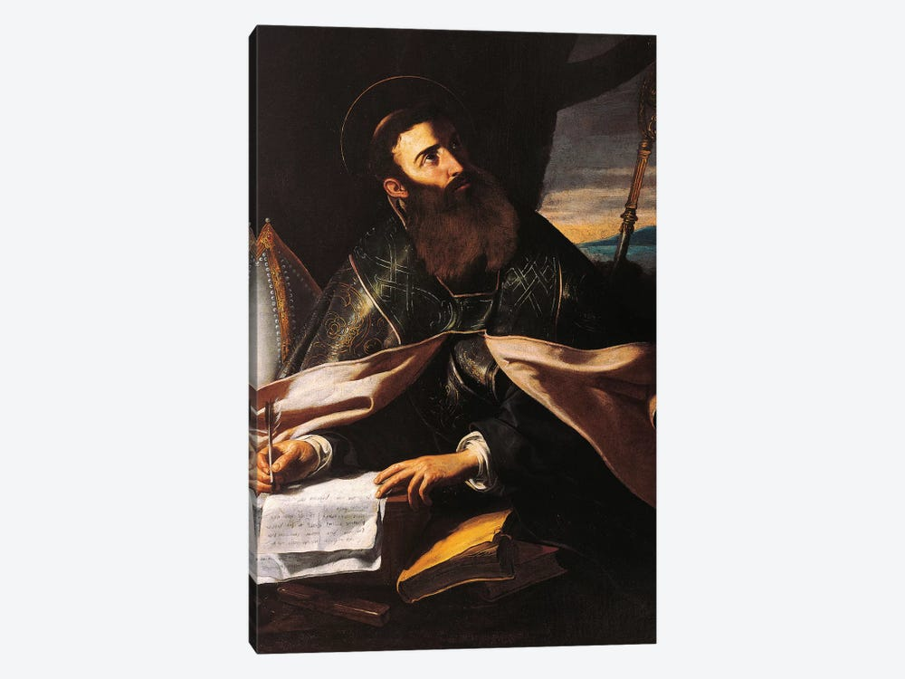 Portrait of St. Augustine of Hippo by Cecco del Caravaggio 1-piece Canvas Print