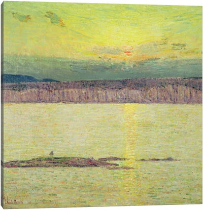 Sunset Ironbound, Mount Desert, Massachusetts, 1896 Canvas Art Print