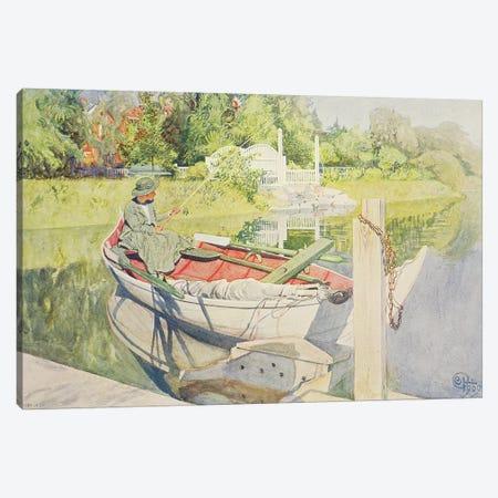 Fishing, 1909 Canvas Print #BMN9395} by Carl Larsson Canvas Wall Art