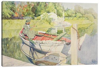 Fishing, 1909 Canvas Art Print