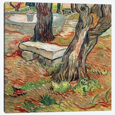 The Bench at Saint-Remy, 1889 Canvas Print #BMN9398} by Vincent van Gogh Canvas Art Print