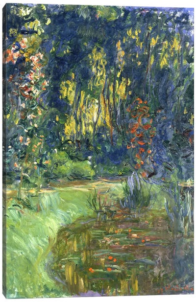 Garden of Giverny, 1923 Canvas Art Print