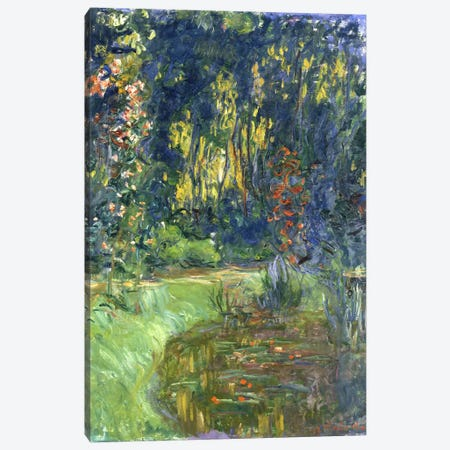 Garden of Giverny, 1923 Canvas Print #BMN939} by Claude Monet Canvas Artwork