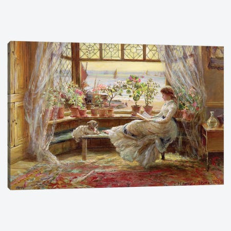 Reading by the Window, Hastings Canvas Print #BMN9402} by Charles James Lewis Canvas Print