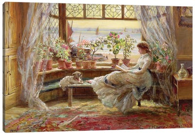 Reading by the Window, Hastings Canvas Art Print