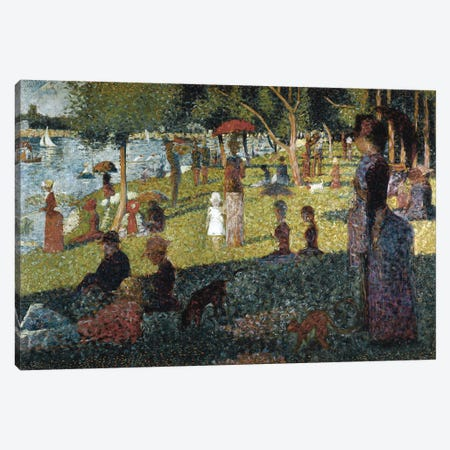Study for a Sunday at the Grande Jatte Canvas Print #BMN9407} by Georges Seurat Canvas Art