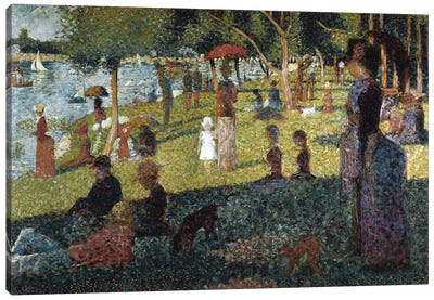 Study for a Sunday at the Grande Jatte Canvas Art Print