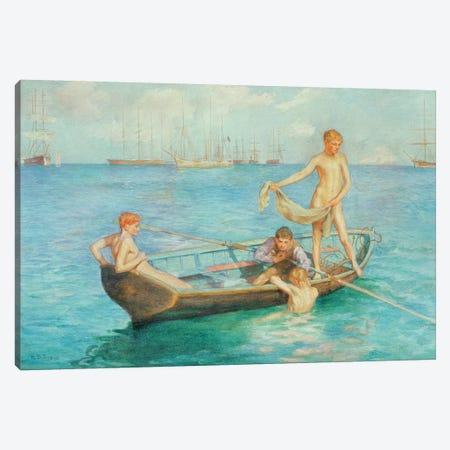 August Blue, 1896 Canvas Print #BMN9408} by Henry Scott Tuke Art Print