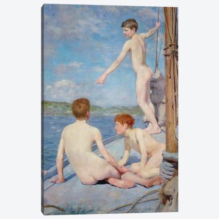 The Bathers Canvas Print #BMN9409} by Henry Scott Tuke Canvas Art Print