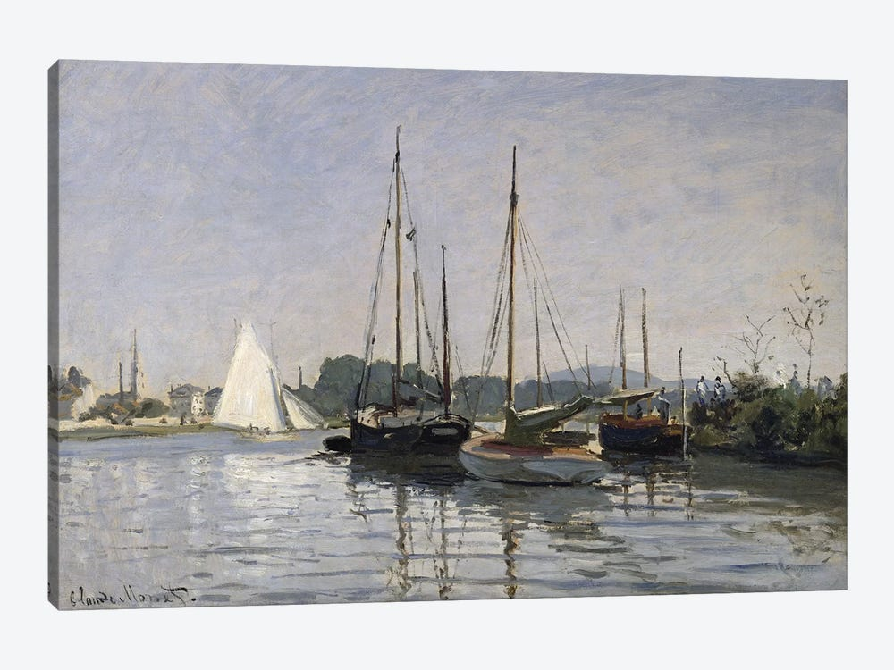 Pleasure Boats, Argenteuil, c.1872-3  by Claude Monet 1-piece Art Print