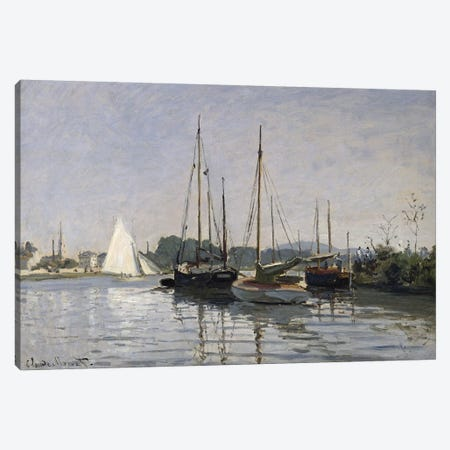 Pleasure Boats, Argenteuil, c.1872-3  Canvas Print #BMN940} by Claude Monet Art Print