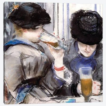 Women Drinking Beer, 1878 Canvas Print #BMN9412} by Edouard Manet Canvas Artwork