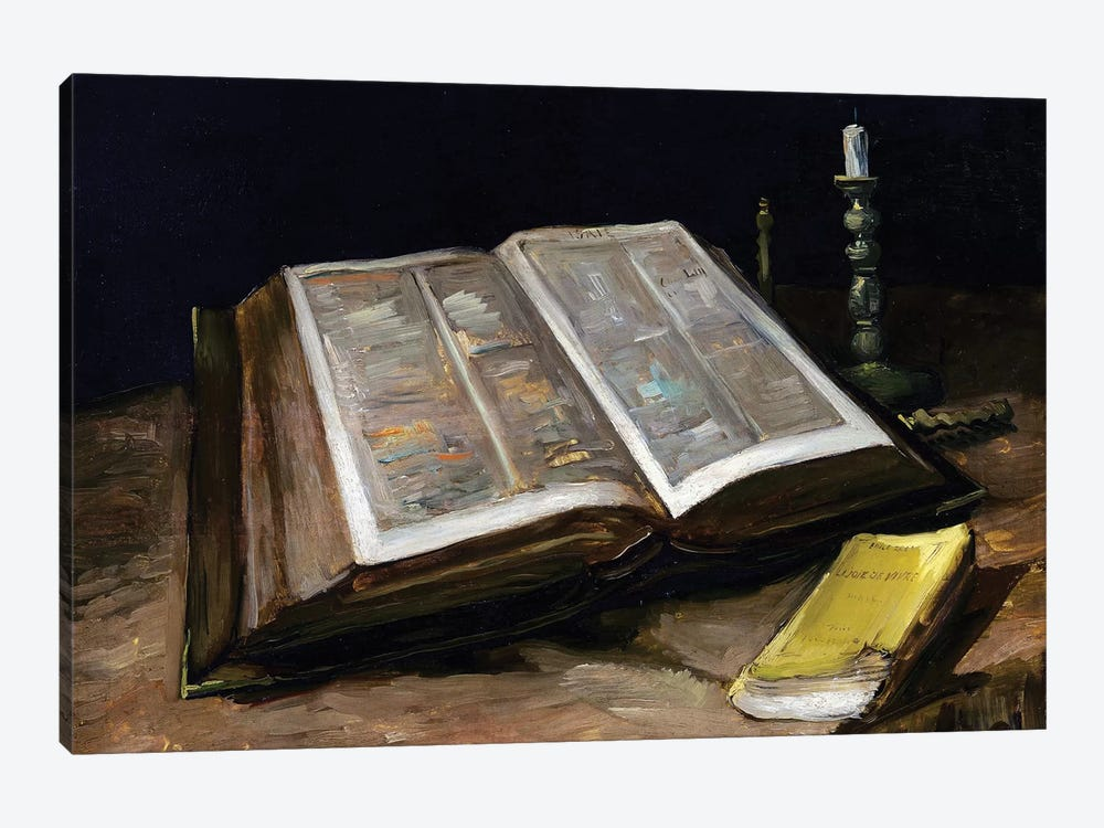 Still Life with Bible by Vincent van Gogh 1-piece Art Print