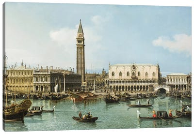 The Molo from the Basin of San Marco, Venice, c.1747-1750 Canvas Art Print