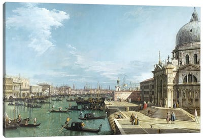 The Entrance to the Grand Canal and the church of Santa Maria della Salute, Venice Canvas Art Print