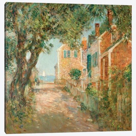 Street in Provincetown, 1904 Canvas Print #BMN9417} by Childe Frederick Hassam Canvas Print