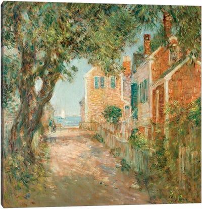 Street in Provincetown, 1904 Canvas Art Print