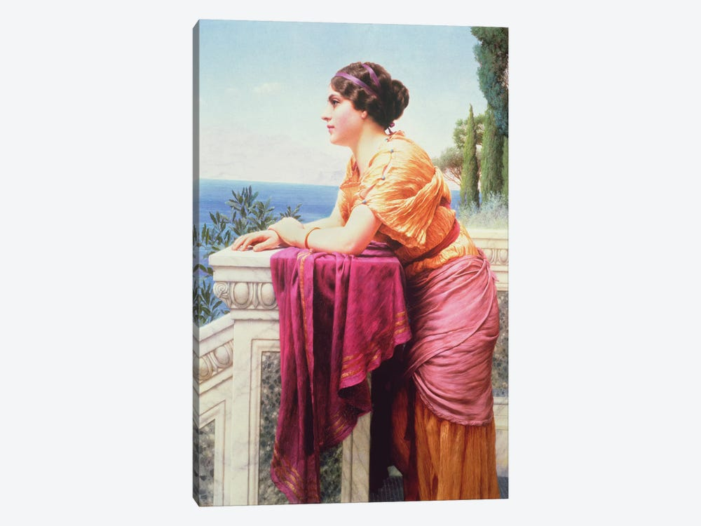 The Belvedere by John William Godward 1-piece Canvas Art