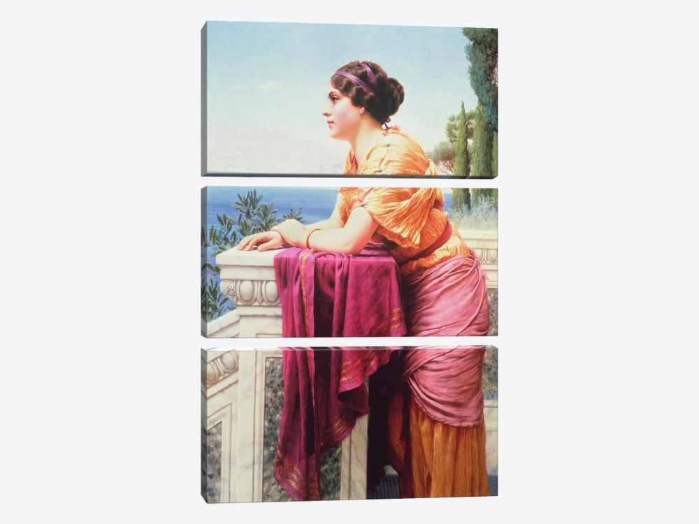 The Belvedere by John William Godward 3-piece Canvas Artwork
