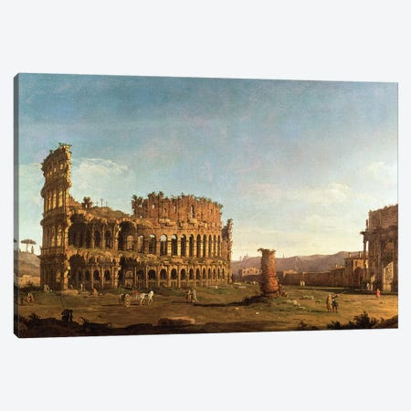 Colosseum and Arch of Constantine, Rome Canvas Print #BMN9428} by Canaletto Canvas Art Print