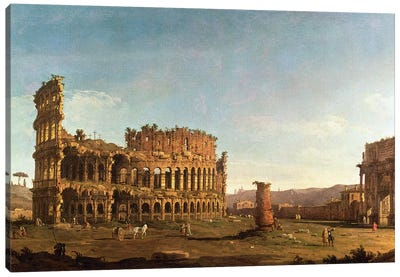 Colosseum and Arch of Constantine, Rome Canvas Art Print