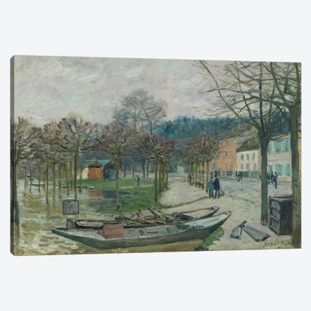 The Flood at Port-Marly, 1876  Canvas Print #BMN942} by Alfred Sisley Canvas Print
