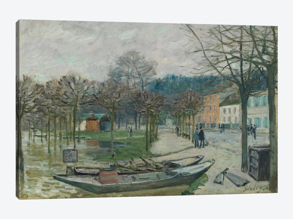 The Flood at Port-Marly, 1876  by Alfred Sisley 1-piece Art Print