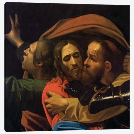 The Taking of Christ Canvas Print #BMN9439} by Michelangelo Merisi da Caravaggio Canvas Artwork