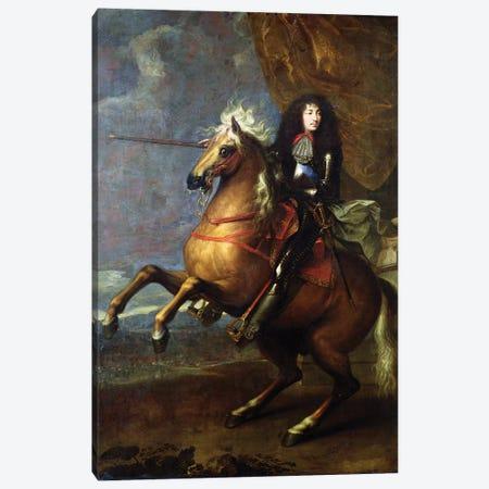 Equestrian Portrait of Louis XIV  c.1668 Canvas Print #BMN9440} by Charles Lebrun Canvas Print