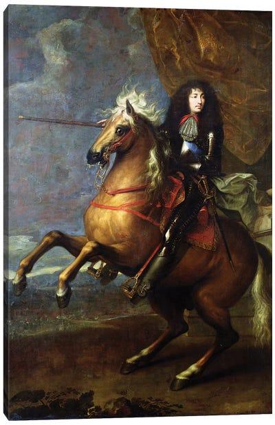 Equestrian Portrait of Louis XIV  c.1668 Canvas Art Print