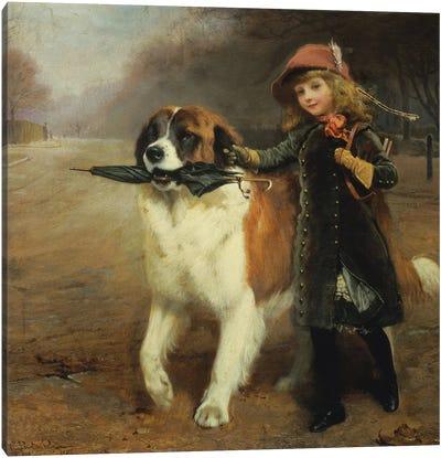 Off to School, 1883 Canvas Art Print