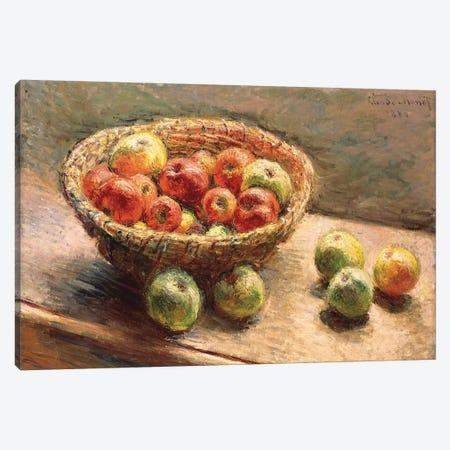 A Bowl of Apples; Le Panier de Pommes, 1880 Canvas Print #BMN9454} by Claude Monet Canvas Print