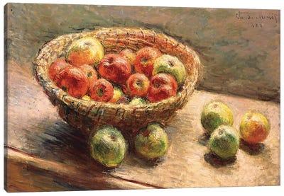 A Bowl of Apples; Le Panier de Pommes, 1880 Canvas Art Print