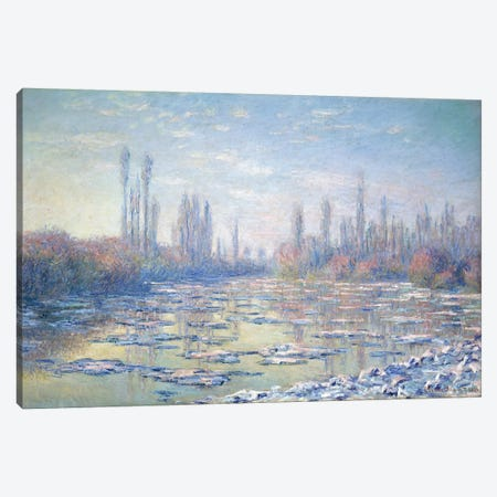 Les Glacons, 1880 Canvas Print #BMN9457} by Claude Monet Canvas Art Print