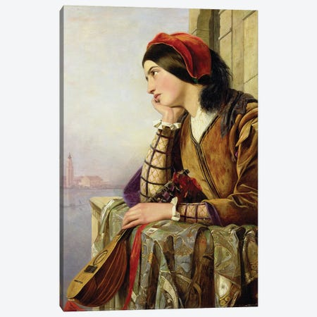 Woman in Love, 1856 Canvas Print #BMN945} by Henry Nelson O'Neil Canvas Artwork