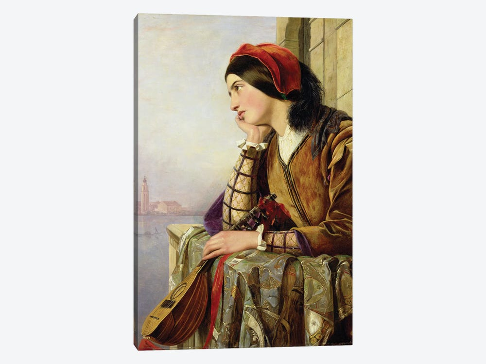 Woman in Love, 1856 by Henry Nelson O'Neil 1-piece Canvas Artwork