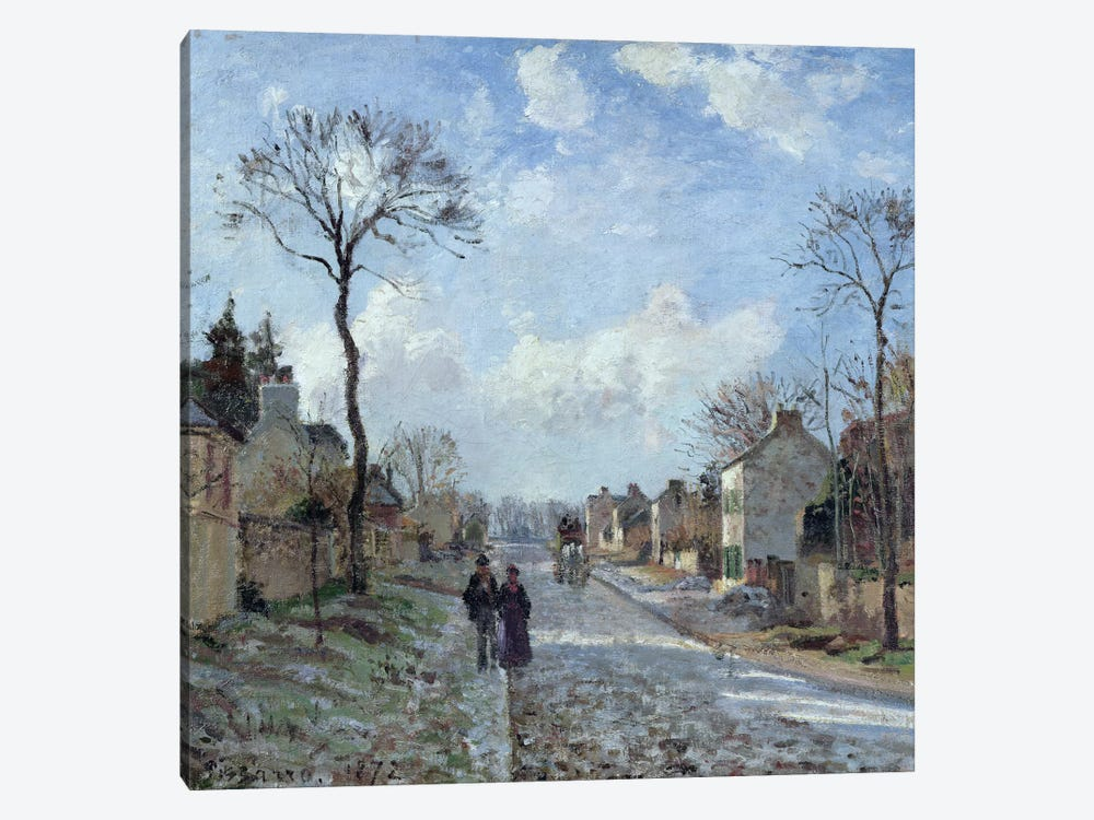 The Road to Louveciennes, 1872  by Camille Pissarro 1-piece Canvas Art Print