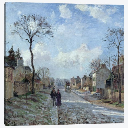 The Road to Louveciennes, 1872  Canvas Print #BMN946} by Camille Pissarro Canvas Art