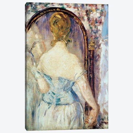 Woman Before a Mirror, 1876-77 Canvas Print #BMN9474} by Edouard Manet Canvas Print