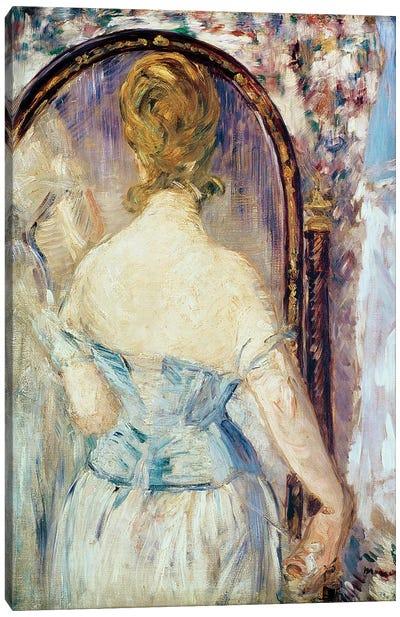 Woman Before a Mirror, 1876-77 Canvas Art Print