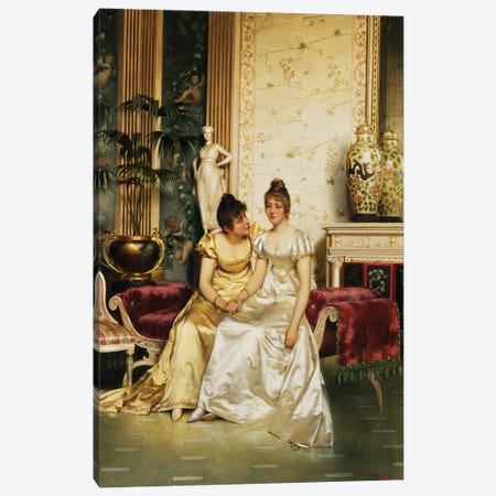 A Shared Confidence Canvas Print #BMN947} by Joseph Frederick Charles Soulacroix Canvas Wall Art