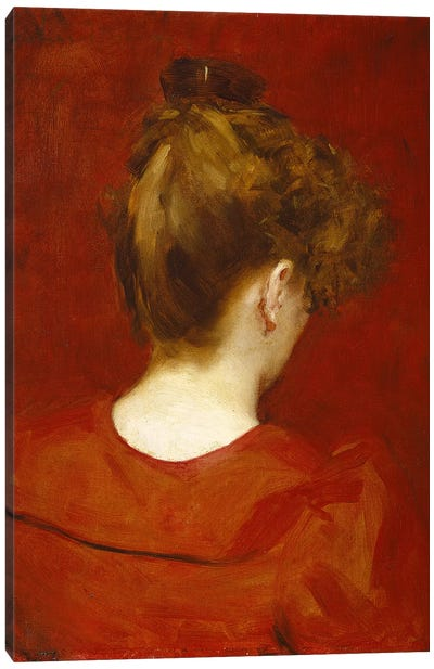 Study of Lilia, 1887 Canvas Art Print