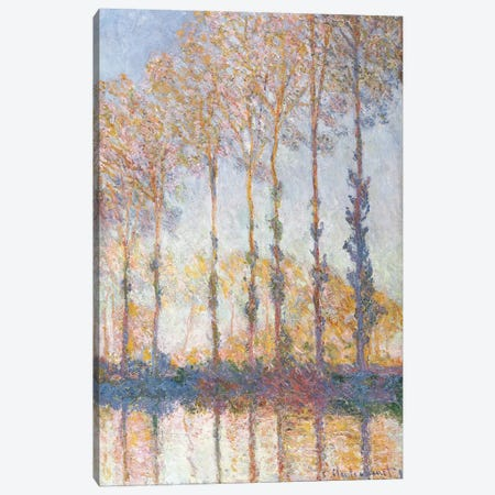 Poplars on the Bank of the Epte River, 1891 Canvas Print #BMN9496} by Claude Monet Canvas Art Print