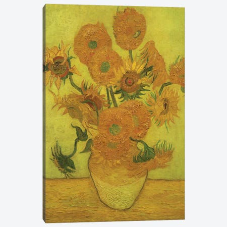 Sunflowers, 1889 Canvas Print #BMN9497} by Vincent van Gogh Canvas Print