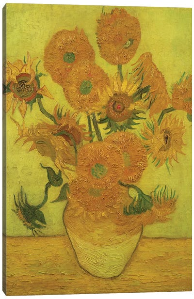 Sunflowers, 1889 Canvas Art Print