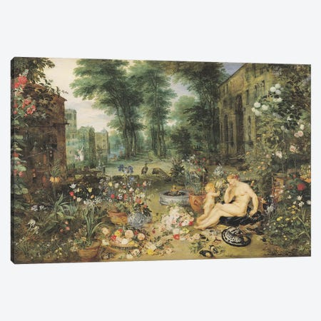 The Sense of Smell  Canvas Print #BMN949} by Jan Brueghel Art Print