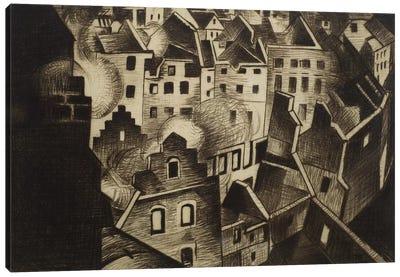 Ypres after 1st Bombardment, 1916 Canvas Art Print