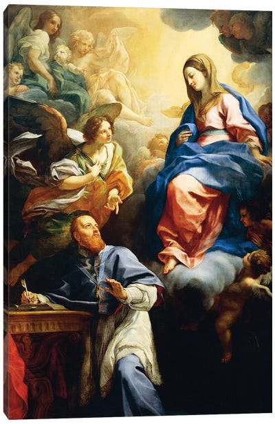 Virgin with Child appearing to St. Francis de Sales, 1691 Canvas Art Print