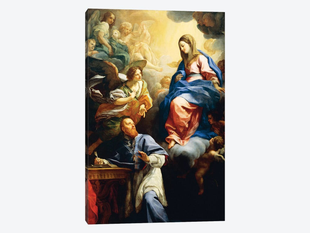 Virgin with Child appearing to St. Francis de Sales, 1691 by Carlo Maratta 1-piece Art Print